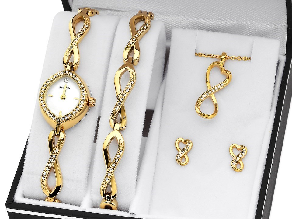 Sekonda classique la s bracelet and diamond watch set Just