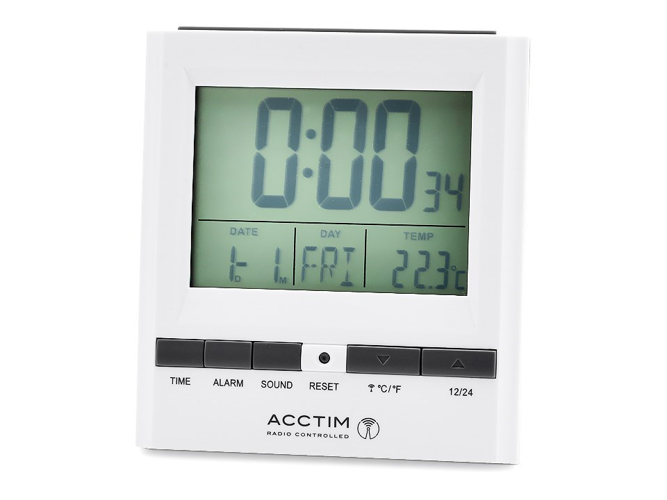 acctim radio controlled alarm clock c0423 f hinds jewellers. Black Bedroom Furniture Sets. Home Design Ideas