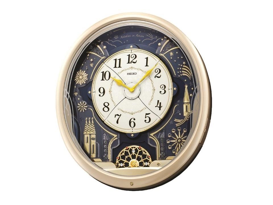 Seiko Qxm239s Led Lights Melody Wall Clock C5935 F