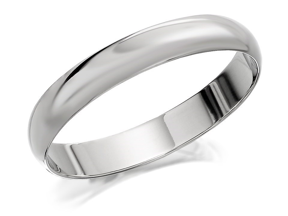 platinum d shaped wedding ring 3mm r4610 f hinds
