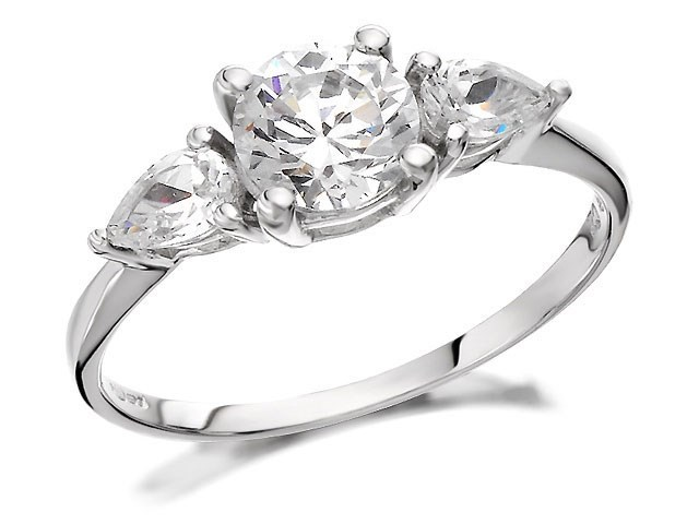 9ct white gold cubic zirconia ring r6105 f hinds jewellers