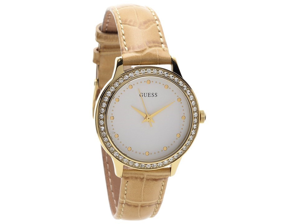 guess w0648l3 chelsea gold plated sand leather