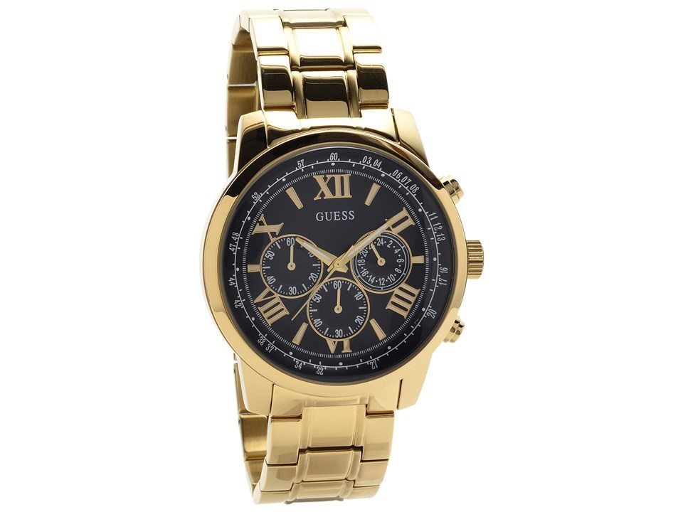 guess w0379g4 horizon gold plated chronograph bracelet