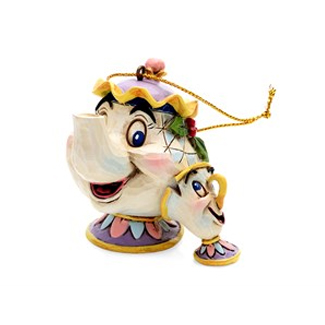 Disney Traditions A21431 Mrs Potts And Chip Hanging Ornament - P01141