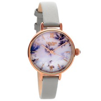 Lola Rose LR2042 Agate Snowflake Grey Leather Strap Watch - W0315