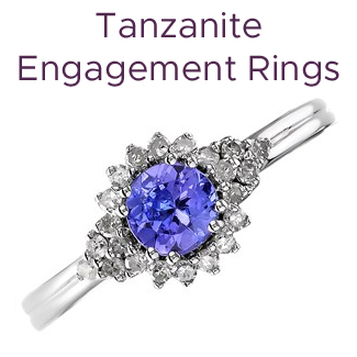 Click to view our tanzanite engagement rings
