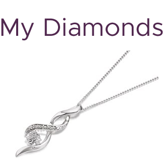My Diamonds Silver Diamond Twisted Pendant And Chain - D9944