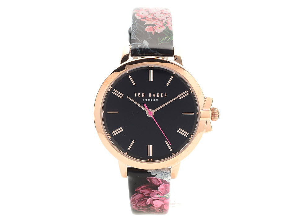 3ca50d483 Ted Baker TE50267003 Ruth Rose Gold Plated Floral Leather Strap ...