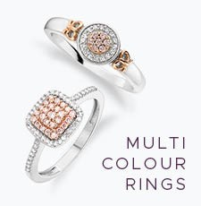 Multi Coloured Gold Rings