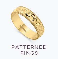 Patterned Wedding Rings