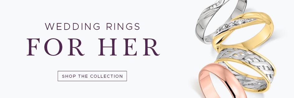 Wedding Rings For Women Ladies Wedding Rings Bands Uk Gold