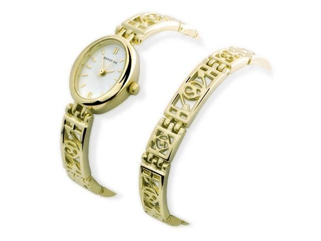 Sekonda 4704G Gold Plated Watch And Bracelet Set W3255