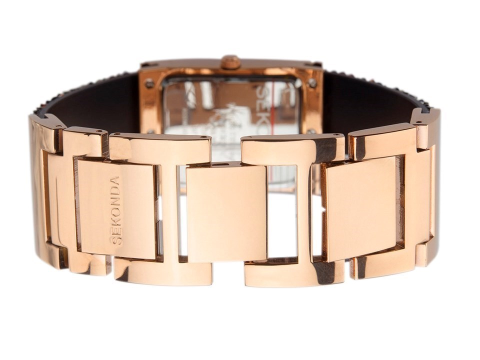 cb610554c428 ... Seksy Rocks 2580 Rose Gold Plated Crystal Bangle Watch -  W33143Alternative Image3 ...