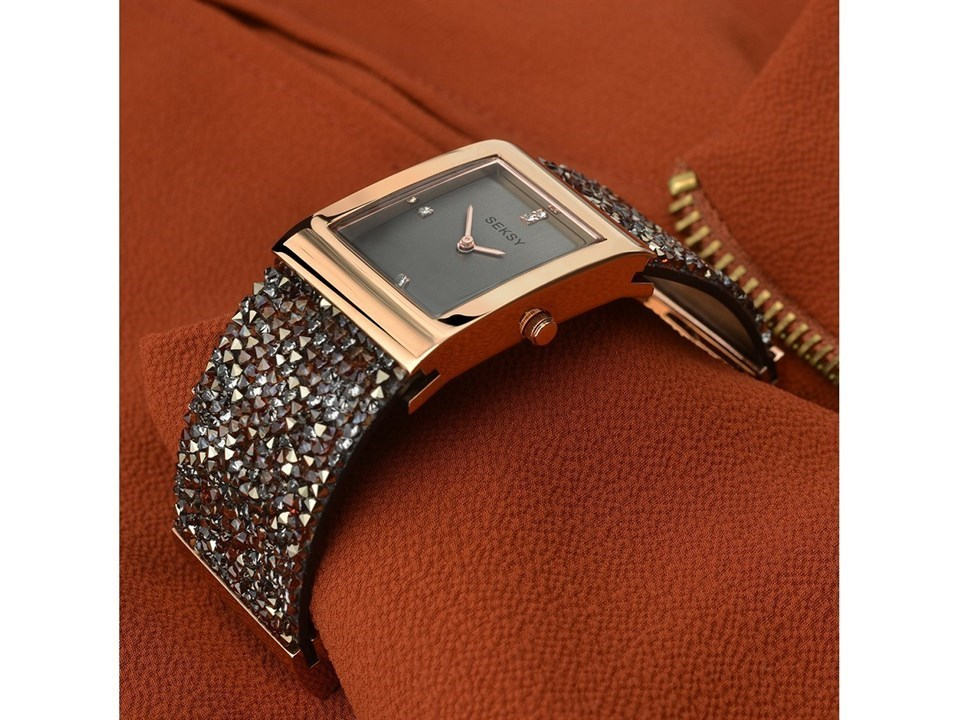9505155a90a8 ... Seksy Rocks 2580 Rose Gold Plated Crystal Bangle Watch -  W33143Alternative Image5