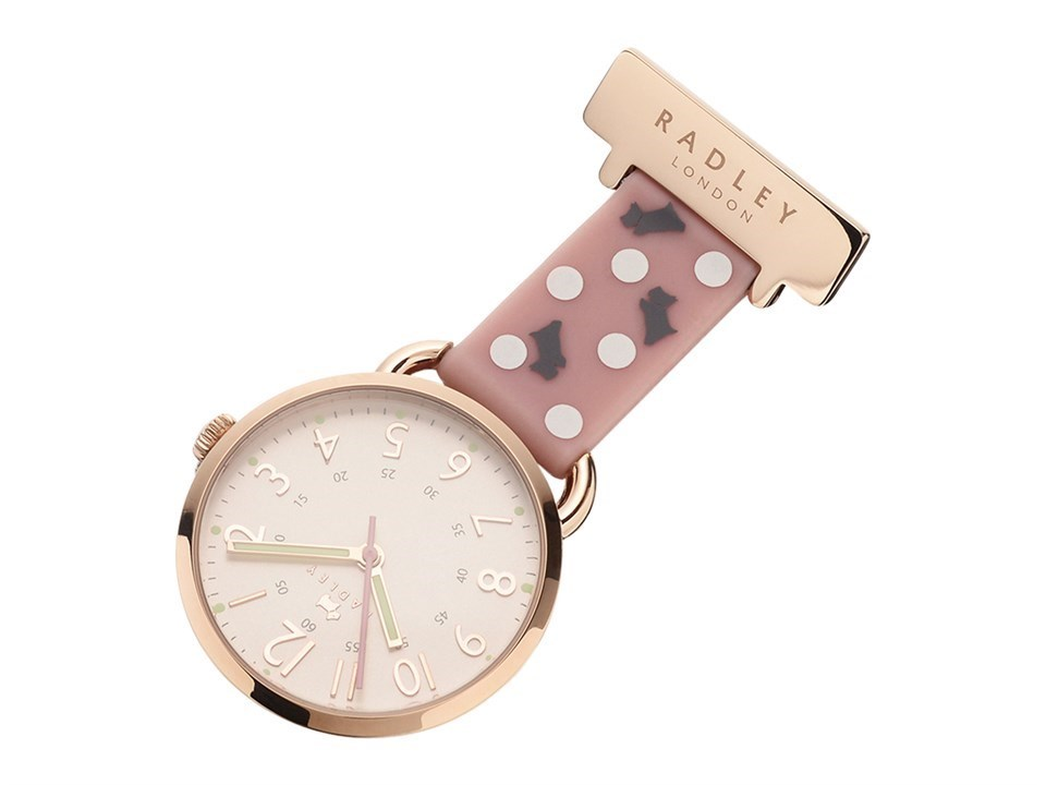 Default Image Radley RY5000 Rose Gold Tone Dots And Dogs Fob Watch