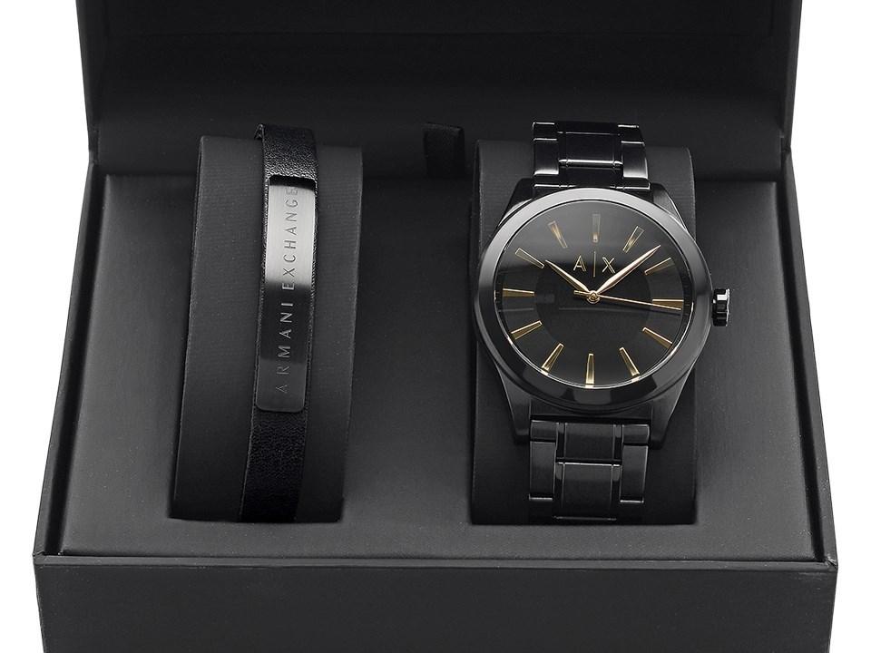 04b2a5f2 Armani Exchange AX7102 Watch And Bracelet Gift Set - W62104