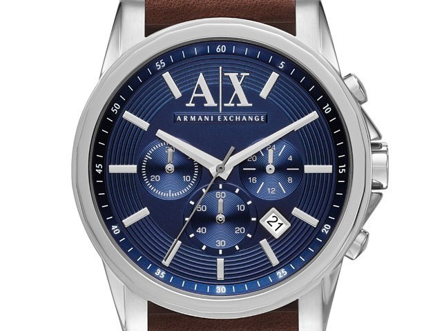 Default Image Armani Exchange AX2501 Stainless Steel Brown Leather Strap  Watch - W6211Alternative Image1 cd139c19b58b6