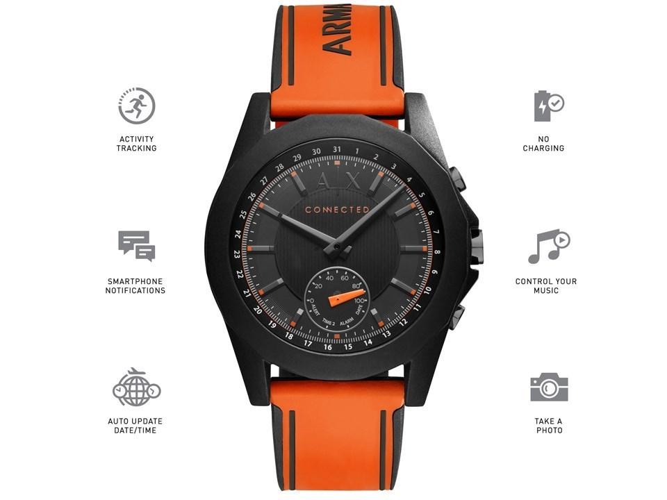 333505d3dd3 ... Armani Exchange Connected AXT1003 Orange Silicon Hybrid Smartwatch -  W6584Alternative Image2