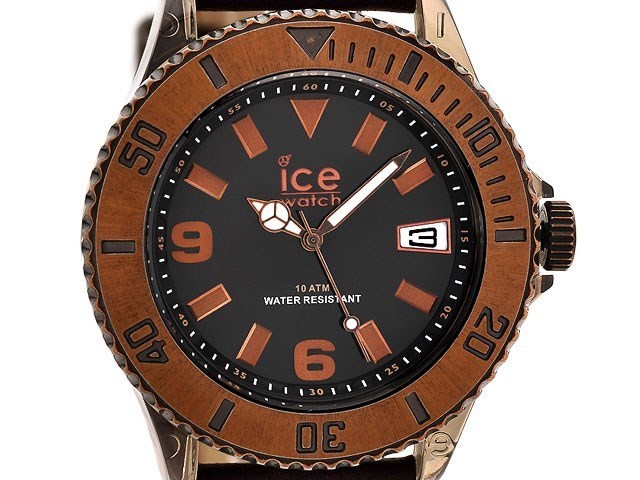 Ice-Watch VTBKBBL13 Vintage Black Dial Brown Leather Strap ...