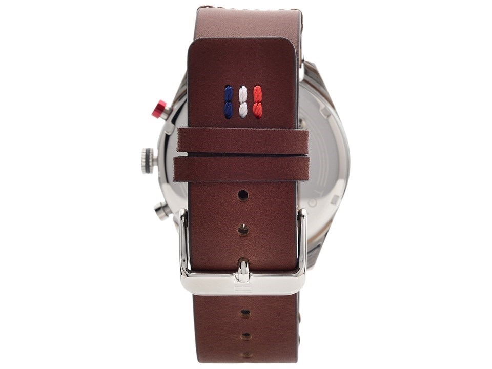 89be63db ... Tommy Hilfiger 1791208 Corbin Stainless Steel Brown Leather Strap Watch  - W9528Alternative Image2