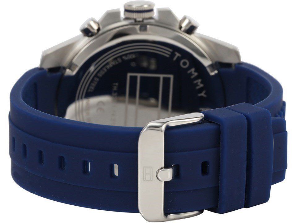 4b7508cf ... Tommy Hilfiger 1791349 Decker Blue Resin Strap Watch - W9583Alternative  Image2