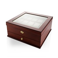 Lockable Fifteen Part Wooden Watch Box  A1997