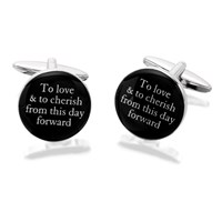 Image of Amore To Love And To Cherish Cufflinks - A4565