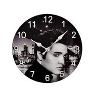 Image of Glass Elvis Wall Clock - C5707