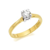 18ct Gold Diamond Solitaire Ring - 40pts - Certificated - D0114-O
