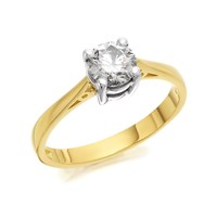 18ct Gold Diamond Solitaire Ring - 80pts - Certificated - D0118-O