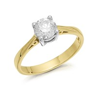 18ct Gold Diamond Solitaire Ring - 90pts - Certificated - D0119-O