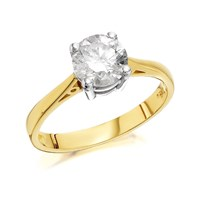 18ct Gold 1.25 Carat Diamond Solitaire Ring - Certificated - D0313-P