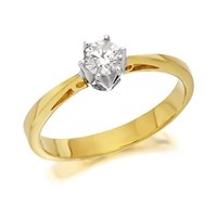 18ct Gold Diamond Solitaire Ring - 1/4ct - D0394-N