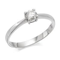 Platinum Diamond Solitaire Ring - 1/4ct - D0801-J