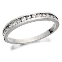 Platinum Diamond Half Eternity Ring - 1/3ct - D0810-R
