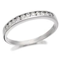 Platinum Diamond Half Eternity Ring - 1/4ct - D0823-L
