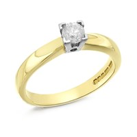 Image of 18ct Gold Diamond Solitaire Ring - 1/4ct - D0905-P