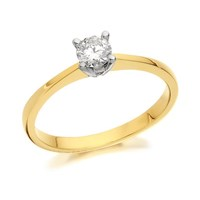 18ct Gold Canadian Rocks Diamond Solitaire Ring - 1/4ct - Certificated - D0940-M