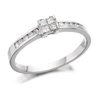 Image of 18ct White Gold Diamond Ring - 1/4ct - D1305-P