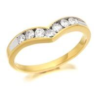 18ct Gold Diamond Wishbone Ring - 1/3ct - D4201-P