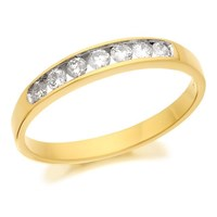 18ct Gold Diamond Half Eternity Ring - 1/4ct - D4212-N