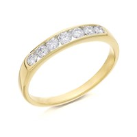 18ct Gold Diamond Half Eternity Ring - 1/3ct - D4216-S