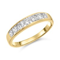 18ct Gold Diamond Half Eternity Ring - 1/2ct - D4217-M