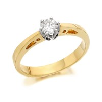 9ct Gold Diamond Solitaire Ring - 1/4ct - D5019-O