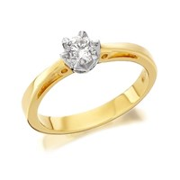 9ct Gold Diamond Solitaire Ring - 1/3ct - D5030-L