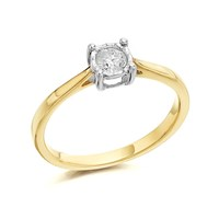 9ct Gold Diamond Ring - 20pts - D5033-O