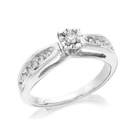 9ct White Gold Diamond Ring - 1/4ct - D5105-P