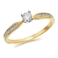 9ct Gold Diamond Ring - 1/4ct - D5110-K