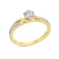 9ct Gold Diamond Ring - 1/2ct - D5117-N