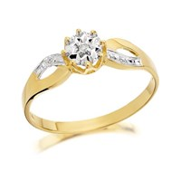 9ct Gold Diamond Ring - EXCLUSIVE - D5137-J